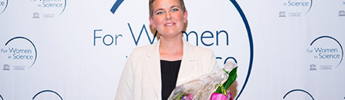 Laura Elo received For Women in Science Award