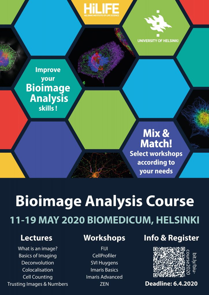 BioImage Analysis Course poster