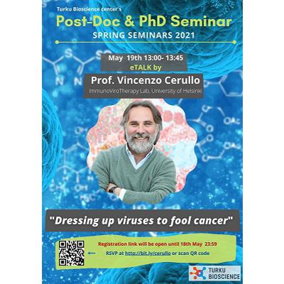 Turku Bioscience Post-Doc & PhD Candidate Board Seminar: Professor Vincenzo Cerullo